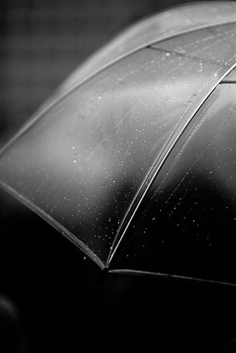 傘の上の水滴