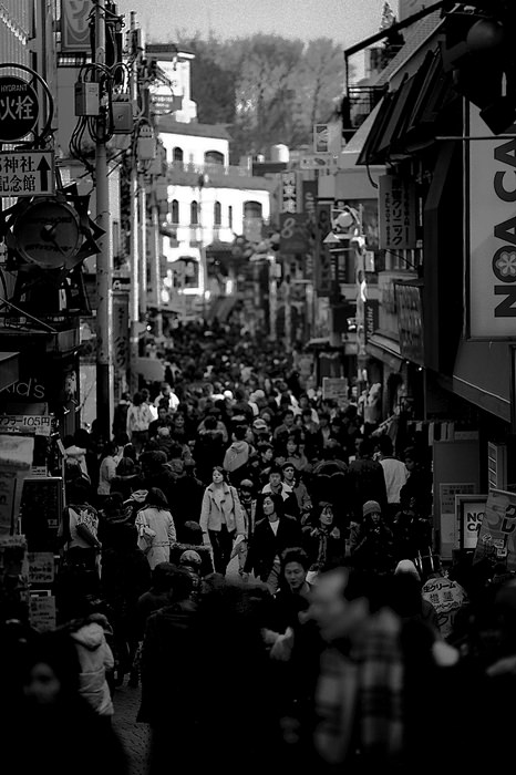 Crowded Takeshita street