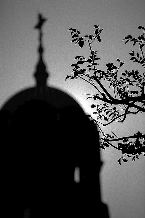 Silhouette Of Nicolai-do Cathedral (Tokyo)