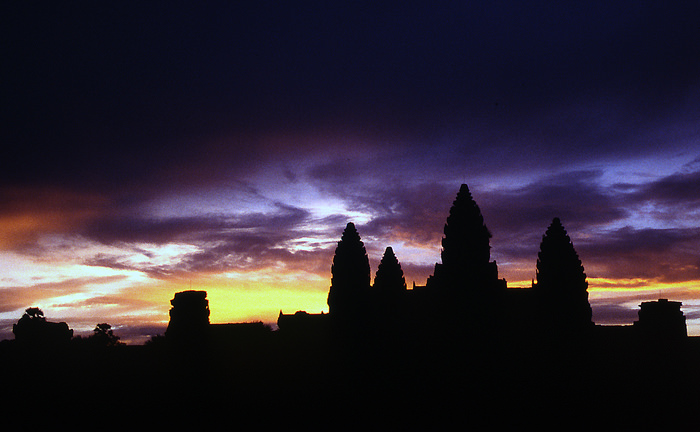 Sunrise In Angkor Wat (Cambodia)