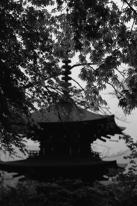 Three-storied pagoda in Okadera