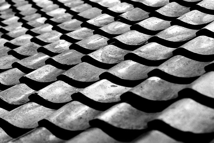 Tiled roof in Tokoname