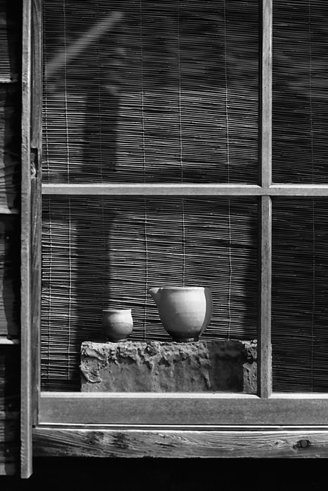 Vessels by window