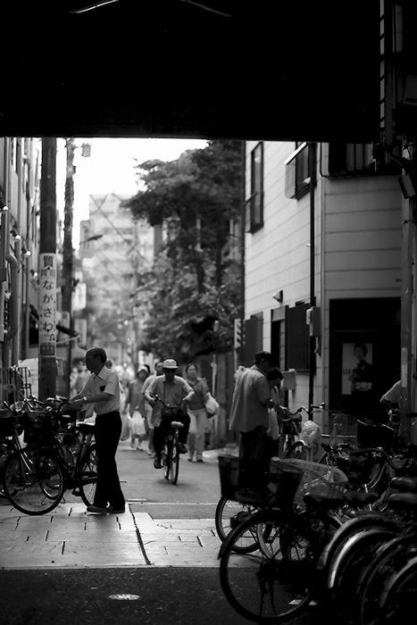 商店街の自転車