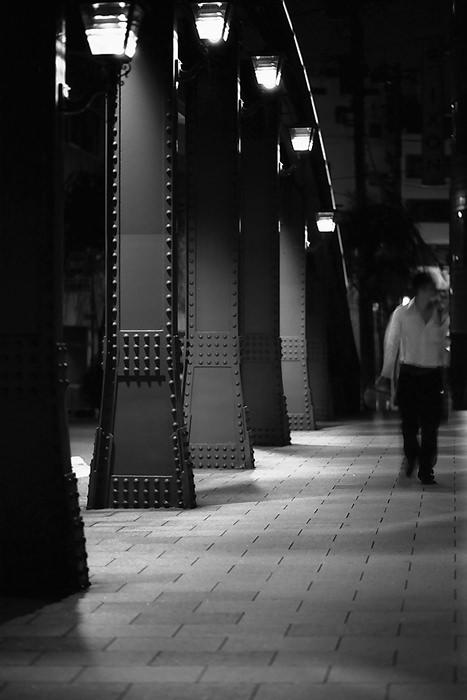 Figure On Yanagi-bashi Bridge (Tokyo)