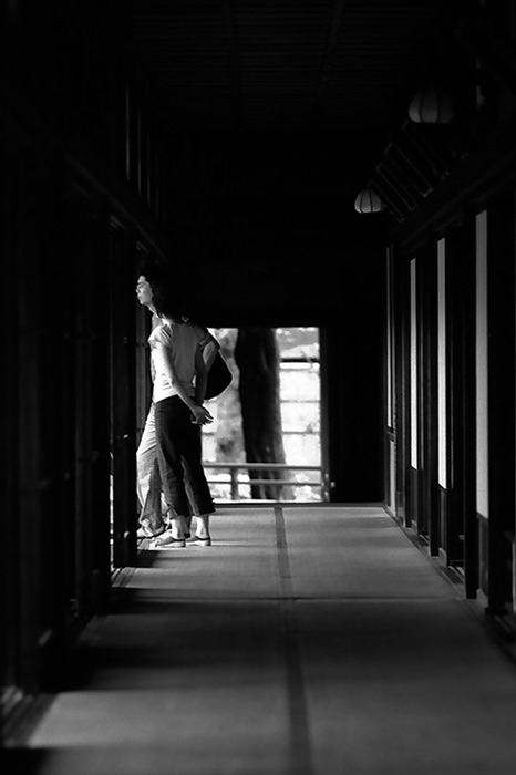 Couple at end of corridor
