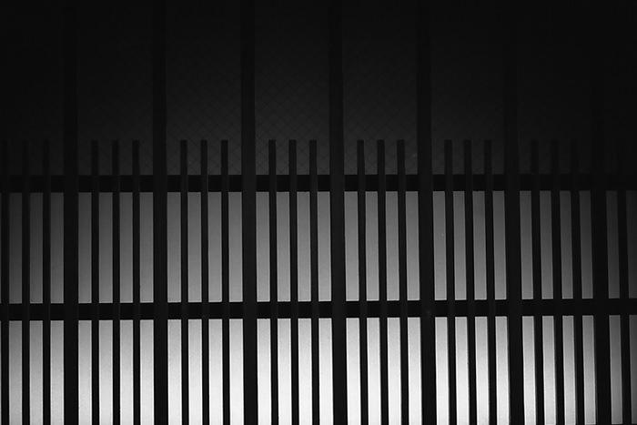 Silhouette Of The Window Lattice (Tokyo)