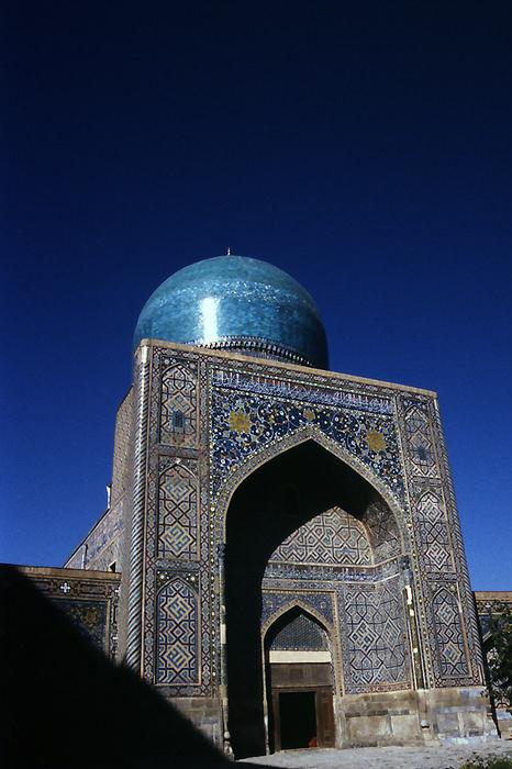 blue mosque in Samarkand