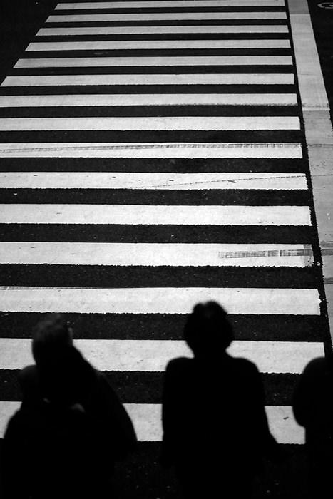 Figures At The Crosswalk (Tokyo)