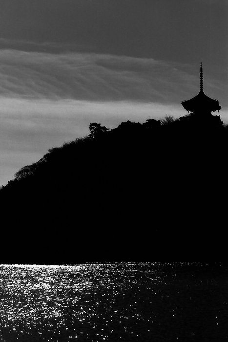 pagoda on the top of the hill