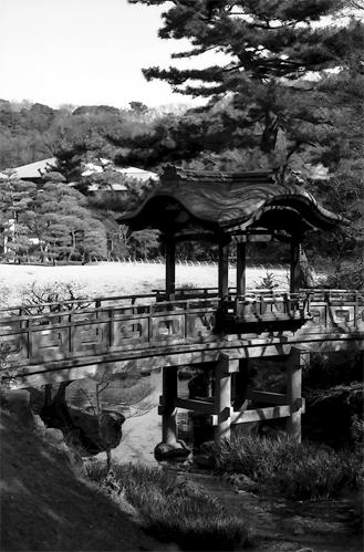 Wooden Bridge In Sankei-en @ Kanagawa
