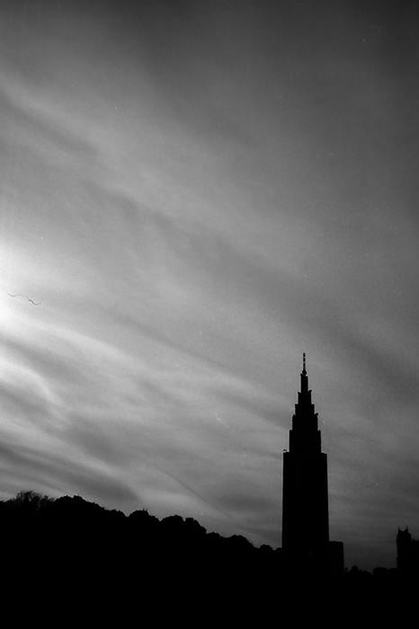 Silhouette of skyscraper