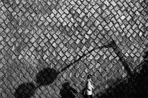 Shadow Of A Traffic Sign On The Wall @ Tokyo