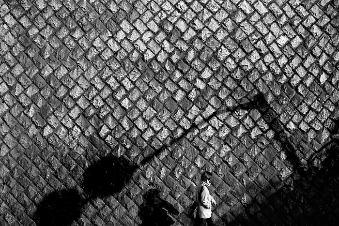Shadow Of A Traffic Sign On The Wall (Tokyo)