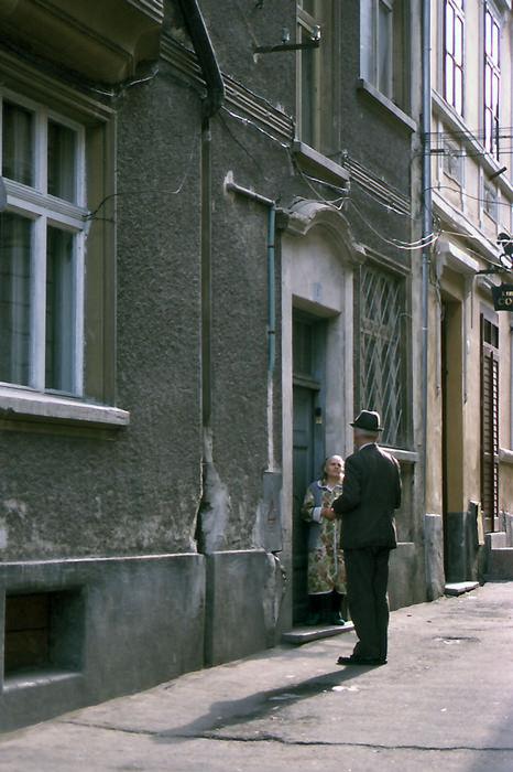 年老いた男と女