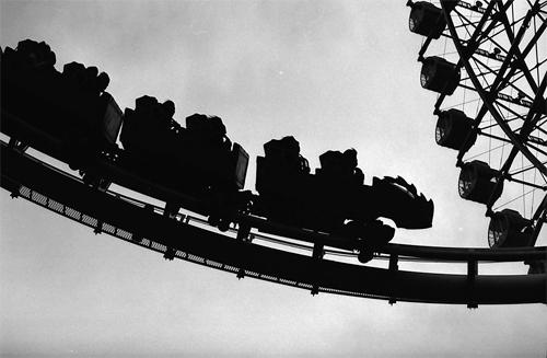 Silhouettes In An Amusement Park @ Kanagawa