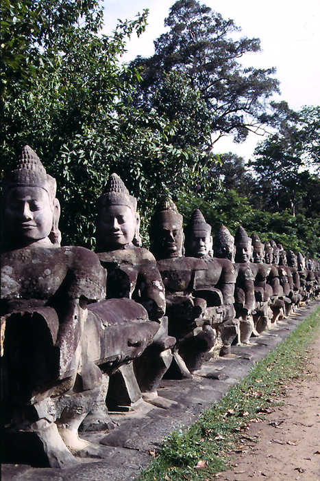 statues in Preah Khan