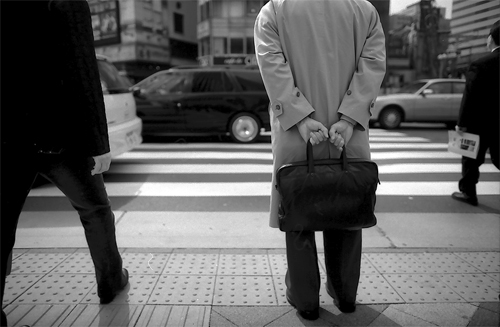 Businessman With A Black Bag @ Tokyo