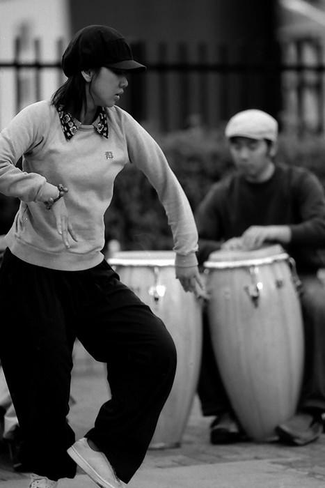 Female street dancer