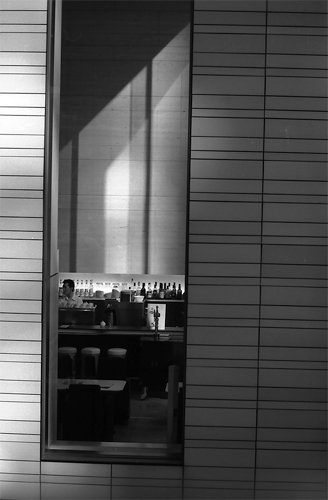 Long And Thin Window Of A Restaurant @ Tokyo