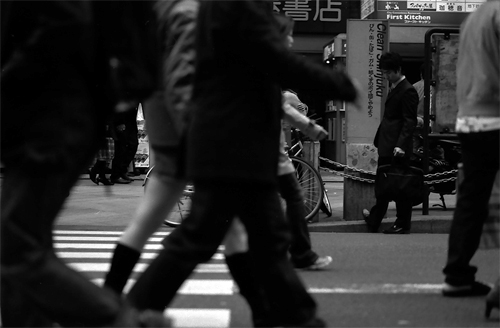 Man Standing In The Flow Of People @ Tokyo