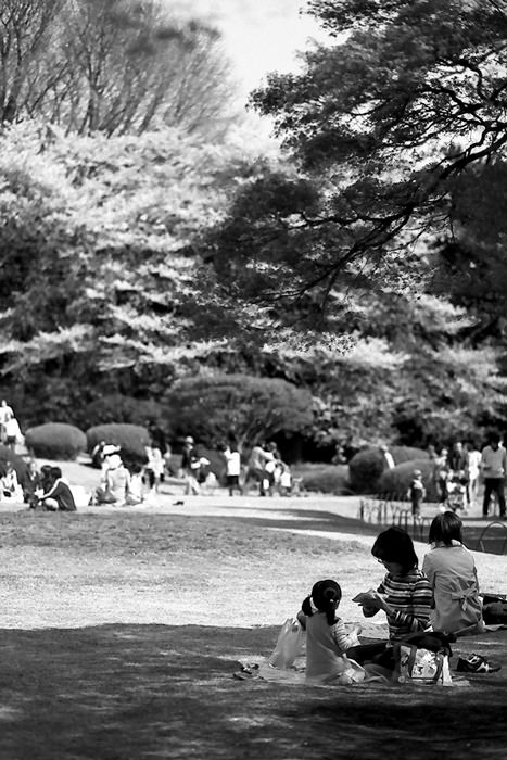 Mother And Her Daughter In The Shade (Tokyo)