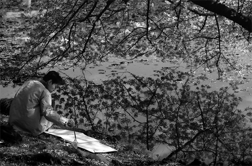 Painter By The Pond @ Tokyo