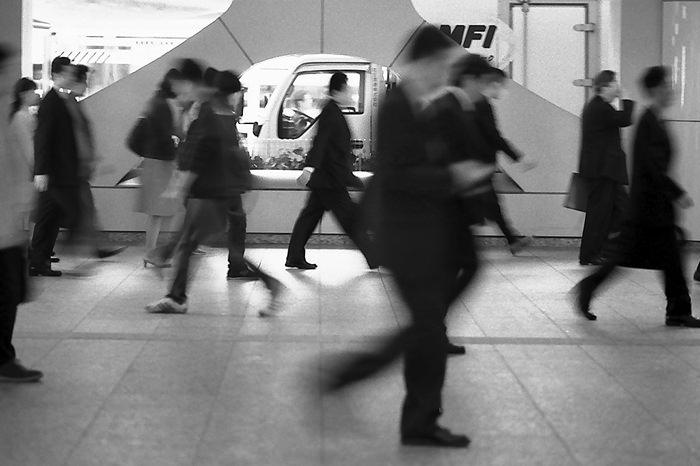 Commuters waking fast