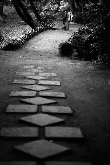 小径の先の人影