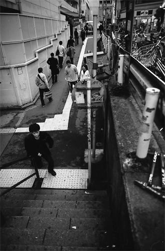 The Entrance Of A Pedestrian Subway (Tokyo)