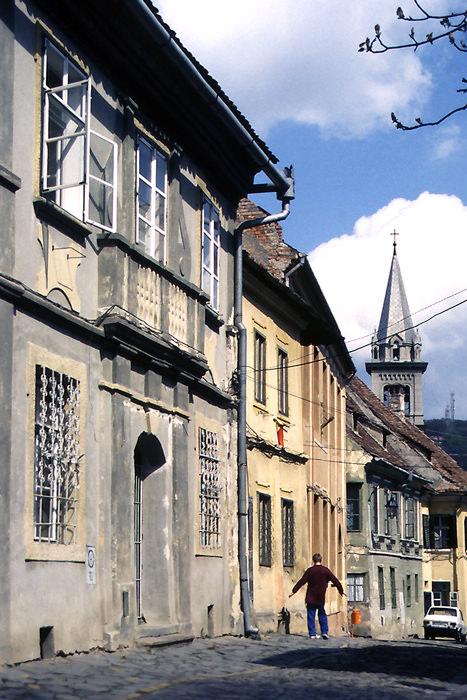 Man In The Street In Sighișoara (Romania)