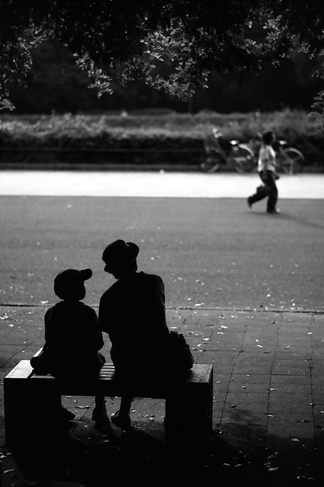Silhouettes Sitting On The Bench (Tokyo)