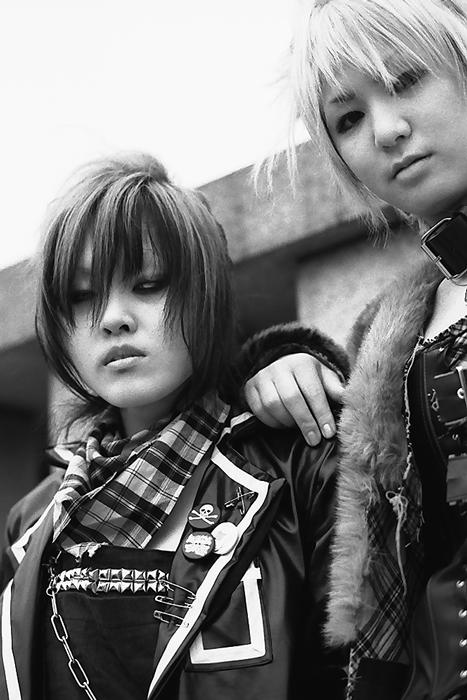 two girls in punk fashion