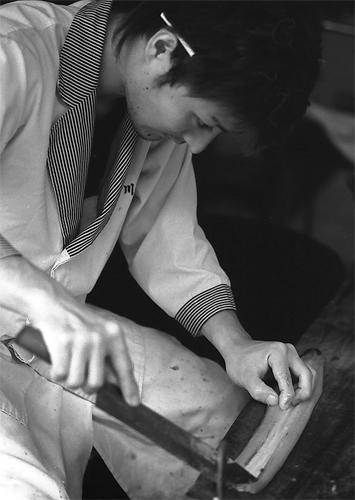 Man Cooking Eels @ Chiba
