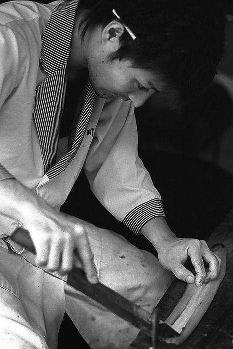 Man Cooking Eels (Chiba)