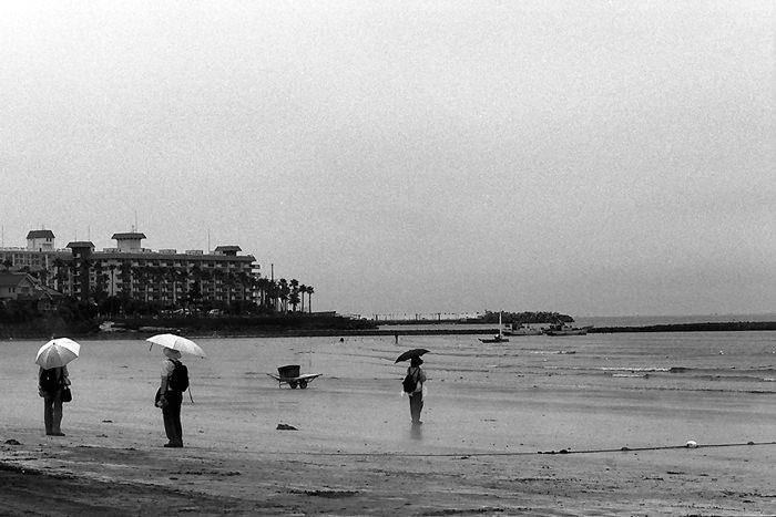 Three Umbrellas On The Beach (Kanagawa)