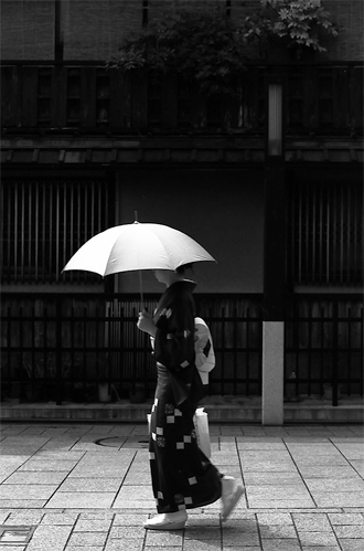 Woman In Kimono Walking The Street @ Kyoto