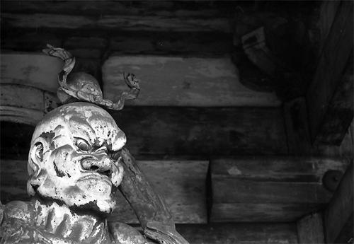 Statue Of Nio @ Kyoto