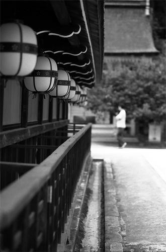Lanterns In Kitano Tenmangu @ Kyoto