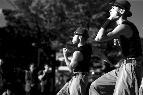 Men Benting Their Elbows @ Tokyo