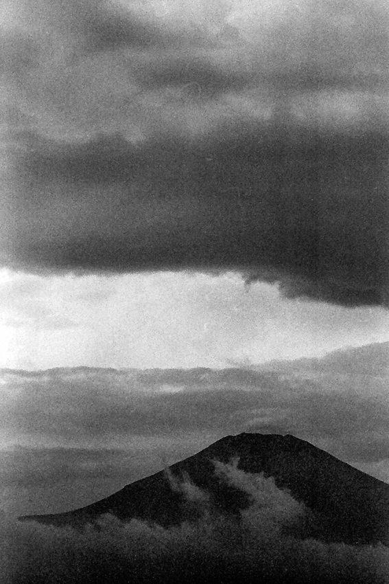 Mt.Fuji above clouds