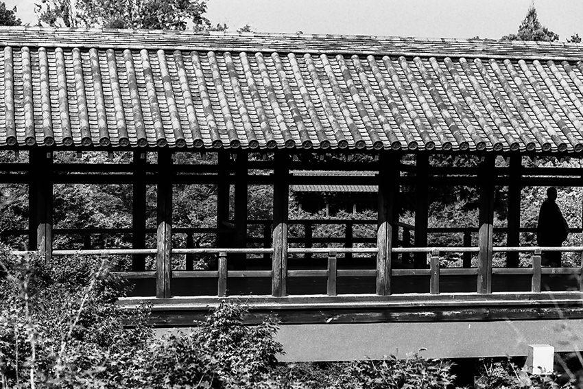 Figure on bridge