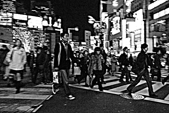 Pedestrians At The Crossing @ Tokyo