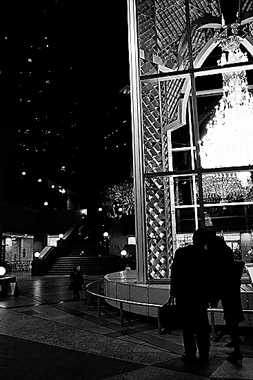 Chandelier And Silhouettes Of A Couple @ Tokyo