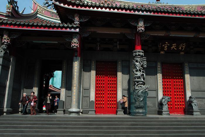 Red Doors In Hsing Tian Kong (Taiwan)