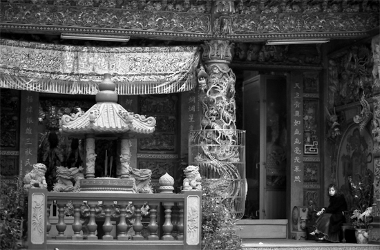 Lady In A Decorative Temple @ Taiwan