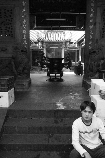 The Entrance Of A Temple In The Messy Alleyway @ Taiwan