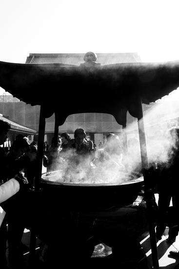 Smoke From An Incense Burner @ Tokyo
