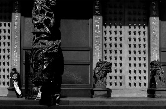 Slanting Boy In Front Of A Door @ Taiwan