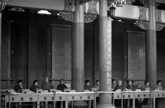 Desks In Hsing Tian Kong (Taiwan)